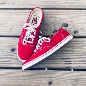 Red/White Canvas Vans!!